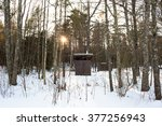 Rustic Outhouse In The Woods O...