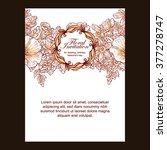 vintage delicate invitation... | Shutterstock . vector #377278747
