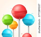 sweet candy colorful lollipops...   Shutterstock .eps vector #377289337