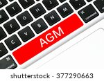 Small photo of Keyboard space bar button written word AGM