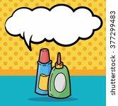 glue color doodle  speech bubble | Shutterstock .eps vector #377299483