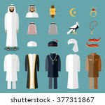 arab man clothes and... | Shutterstock .eps vector #377311867