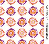 seamless floral retro pattern... | Shutterstock .eps vector #377318197