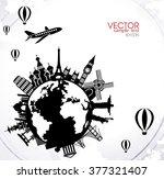 travel vector illustration of...   Shutterstock .eps vector #377321407