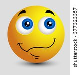 wondering emoji smiley emoticon | Shutterstock .eps vector #377323357