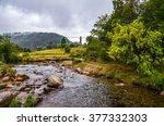 ireland  glendalough  view of... | Shutterstock . vector #377332303