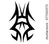 tattoo. stencil. pattern.... | Shutterstock .eps vector #377332573