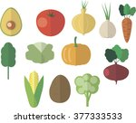 vegetables bow  cabbage ... | Shutterstock .eps vector #377333533