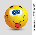 teasing tongue dumb emoji...   Shutterstock .eps vector #377334517