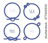 navy blue marine rope round... | Shutterstock .eps vector #377343553