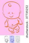 a cute little baby. | Shutterstock . vector #37735252