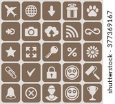 flat vector icon set | Shutterstock .eps vector #377369167