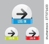 log in icon buttons | Shutterstock .eps vector #377371633