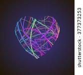 bright heart. stock vector. | Shutterstock .eps vector #377373253