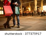 Couple In Christmas Shopping