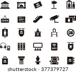 museum icon set | Shutterstock .eps vector #377379727