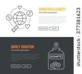 banner template with charity... | Shutterstock .eps vector #377381623