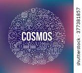 cosmos clipart element   a lot...   Shutterstock .eps vector #377381857