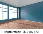 empty room with hardwood... | Shutterstock . vector #377402473