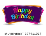 Happy Birthday Text On White...