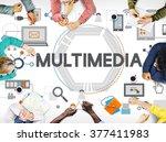 multimedia technology content... | Shutterstock . vector #377411983