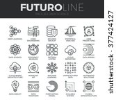 modern thin line icons set of... | Shutterstock .eps vector #377424127