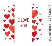 frame made of hearts   Shutterstock .eps vector #377426647