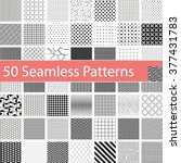 set of 50 different seamless... | Shutterstock .eps vector #377431783