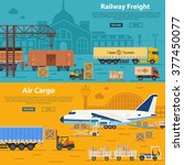 railway freight and air cargo... | Shutterstock .eps vector #377450077