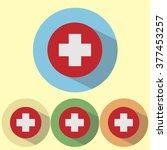 flat vector icon swiss flag | Shutterstock .eps vector #377453257