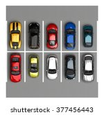 parking. top view | Shutterstock . vector #377456443