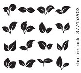 two leaves icons. vector... | Shutterstock .eps vector #377458903