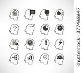 thinking icons | Shutterstock .eps vector #377468647