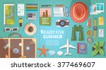 flat vector web banner on the... | Shutterstock .eps vector #377469607