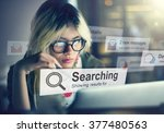 search searching exploration... | Shutterstock . vector #377480563