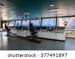 wheelhouse control board of... | Shutterstock . vector #377491897