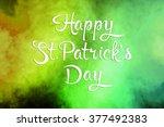 saint patrick's day... | Shutterstock . vector #377492383