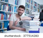 portrait of student in collage... | Shutterstock . vector #377514283