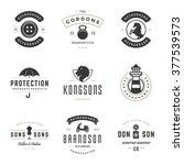 vintage logos design templates... | Shutterstock .eps vector #377539573