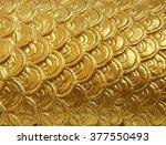 Golden Flake Of Naga Statue....
