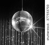 party disco ball with stars in... | Shutterstock . vector #377553703