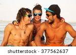 summer lifestyle portrait of...   Shutterstock . vector #377562637