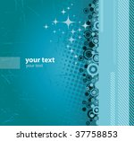 vector blue grunge banner with... | Shutterstock .eps vector #37758853