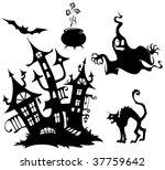 halloween silhouettes 4 | Shutterstock .eps vector #37759642