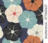 stylish endless pattern with... | Shutterstock .eps vector #377602627