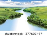 Zigzag River Flows Between...