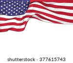 flag of the united states  ... | Shutterstock . vector #377615743