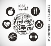 lose weight design  | Shutterstock .eps vector #377618683