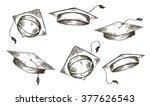 academic cap  vector | Shutterstock .eps vector #377626543