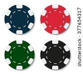casino chips. poker chips. blue ... | Shutterstock .eps vector #377654317